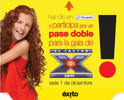 concurso+exito+gana+pases+dobles+a+gala+del+factor+xs
