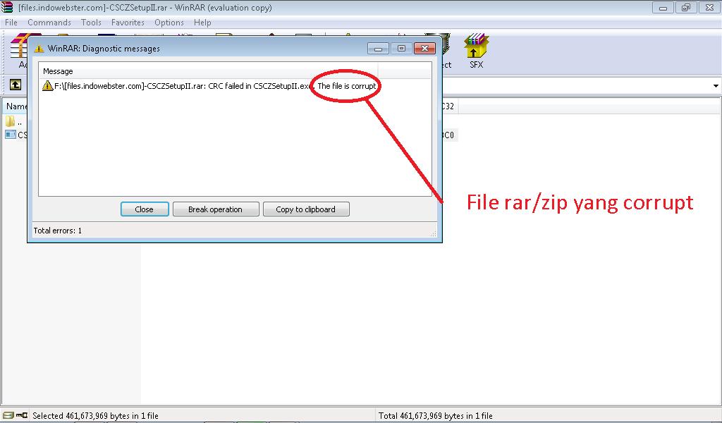 Cara Mengatasi Masalah File Rar/Zip yang Corrupt | ANANTADWI13