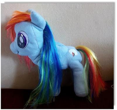 Rainbow Dash- maskotka HANDMADE
