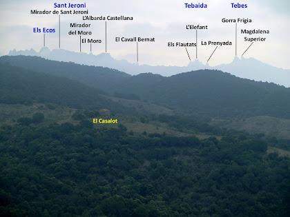 Panoràmica de Montserrat des de les Muntanyes de Ca n'Aguilera