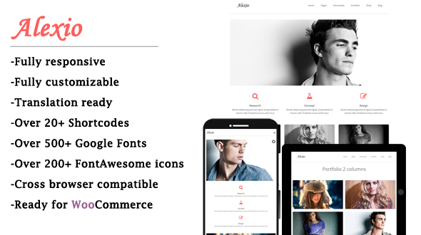 download Alexio - Mojothemes Clean & Minimalist WordPress Theme