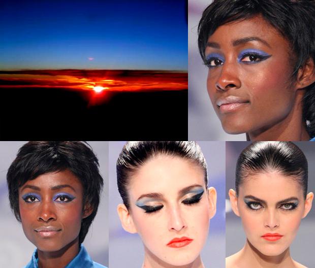 maquiagem pôr-do-sol_maquiagem azul_SPFW_Make B