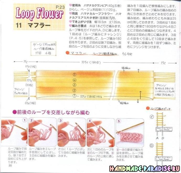 Вязание аксессуаров крючком на вилке