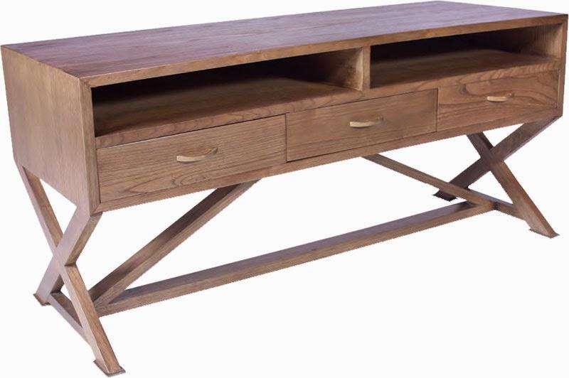 mesa para television en roble