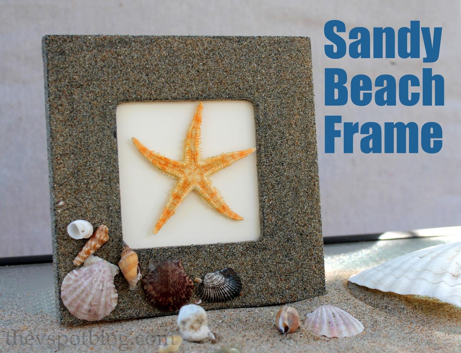 Make a Sandy Beach Frame by The V Spot