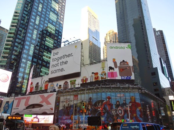 Android Be together not the same billboards Times Square