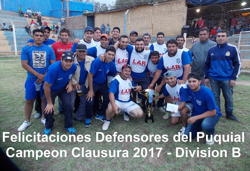 Torneo Clausura 2017 - Div B