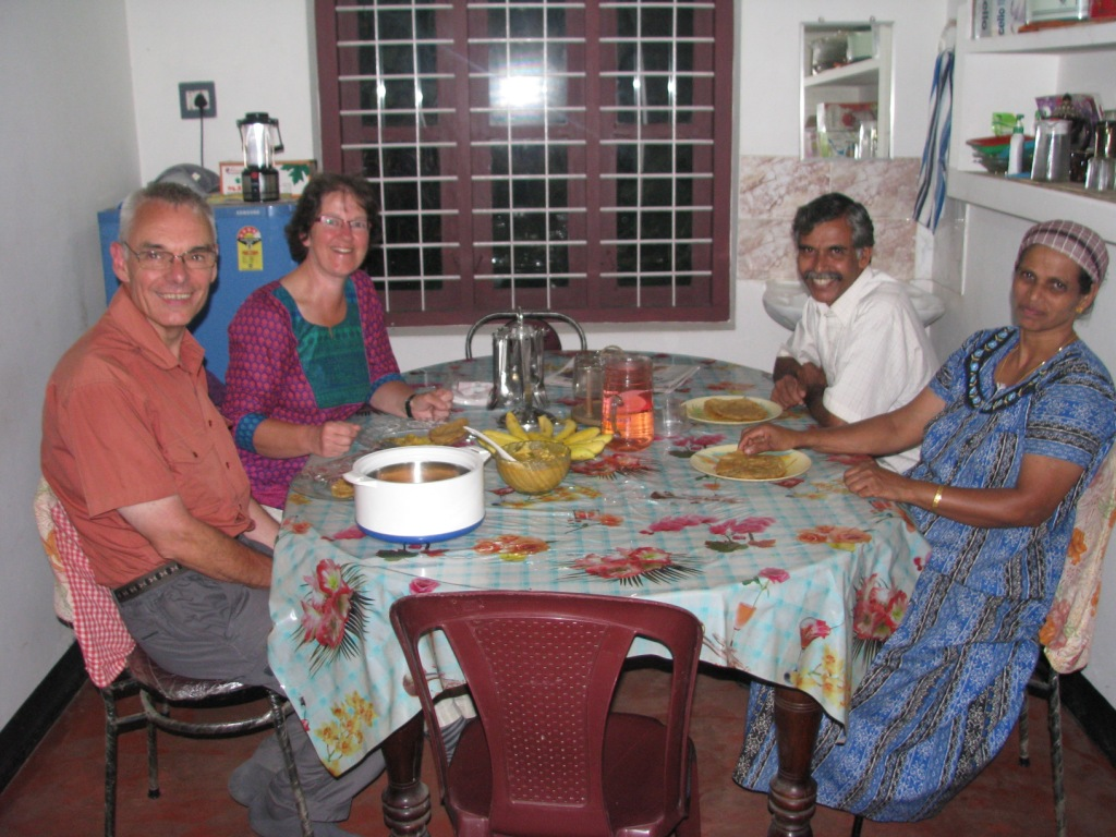 Dinner at home stay in Bamboo Village, Wayanad
