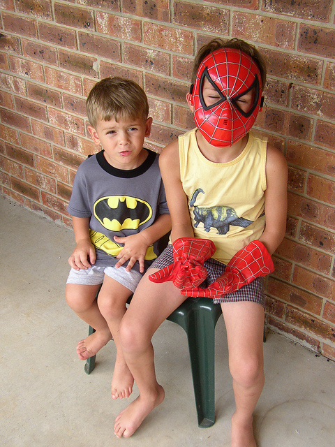 Beauty Begins with Biscotti: Batman and Spiderman