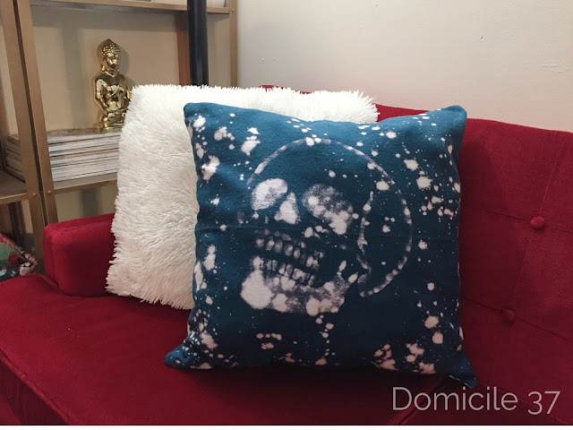 Cutting Edge Stencil Halloween Pillow blog hop