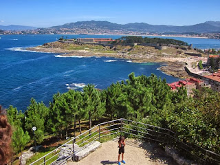 View from Virgen de la Roca in Baiona
