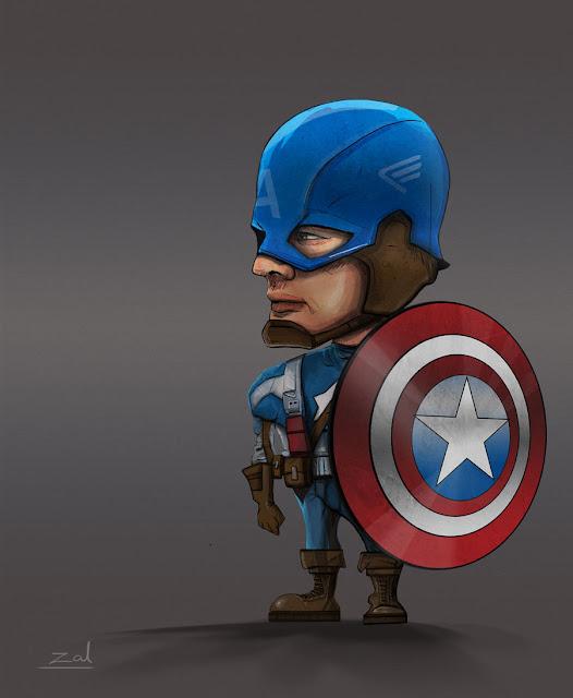 Captain America - bite size por zalxemptyx
