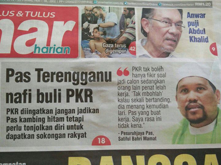 PKR jadi calon PAS yang penat buat kerja