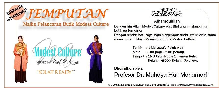 Majlis Pelancaran Butik Modest Culture