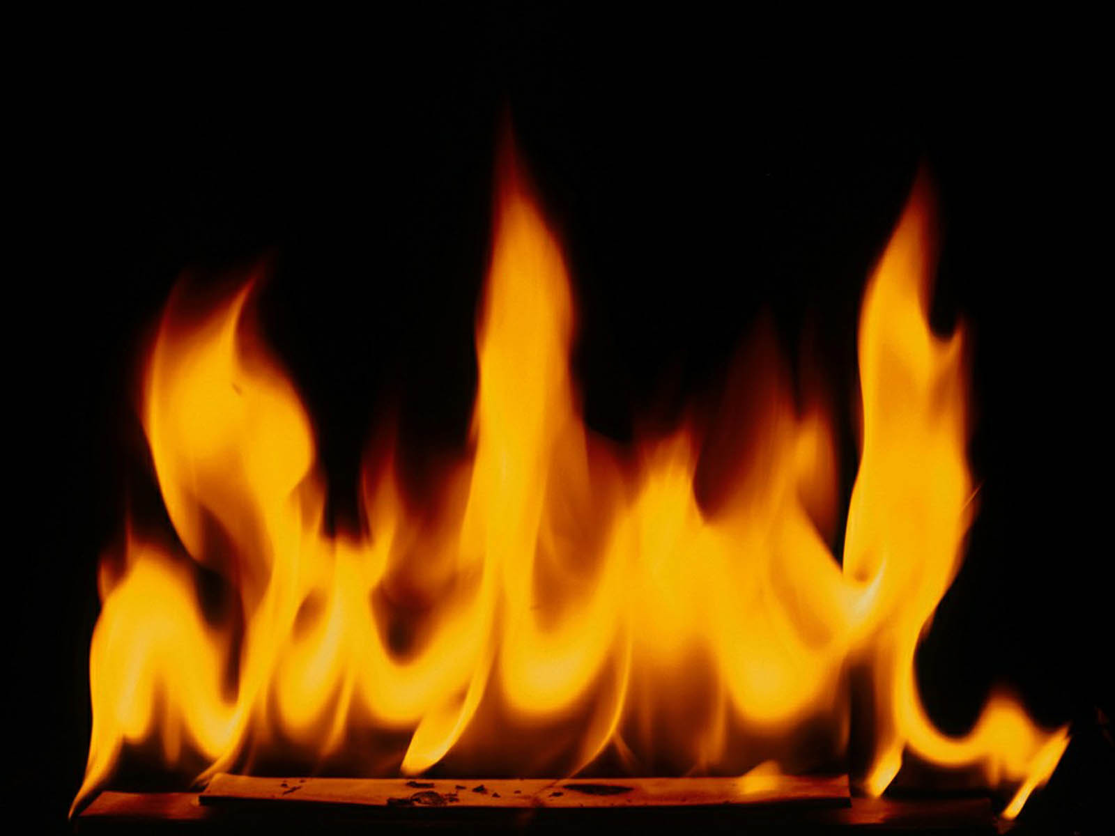 flaming fireplace wallpaper - photo #11