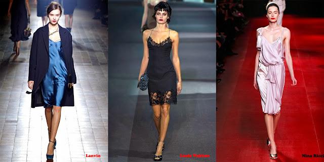 Tendencias mujer otoño/invierno 2013/14 vestido lencero: Lanvin, Louis Vuitton y Nina Ricci