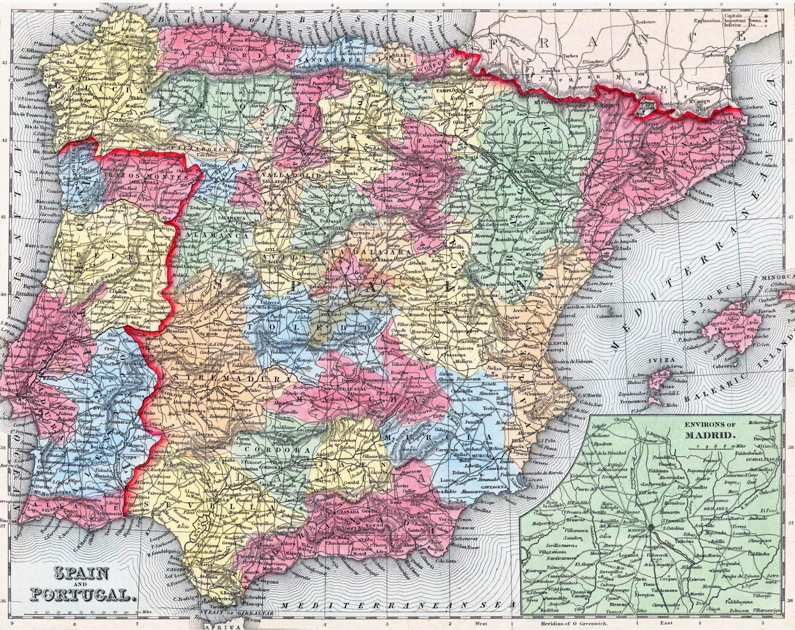 Street map Spain Admin