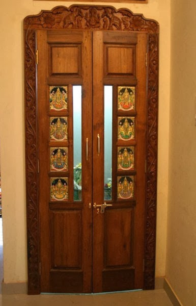 Weekend tweaks my pooja space in our home for Entrance door designs for flats in india