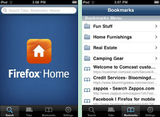 Firefox Home App to Sync Desktop Browser's Bookmarks, Tabs and Histories