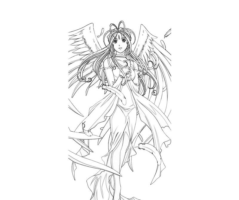 belldandy-wing-coloring-pages