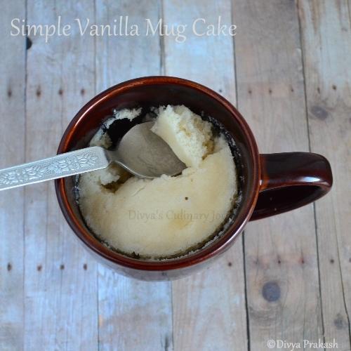 Vanilla mug cake in Microwave