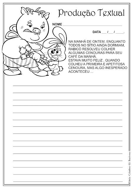 Atividade Turma do Sítio do Pica Pau Amarelo / Dia do Livro Infantil