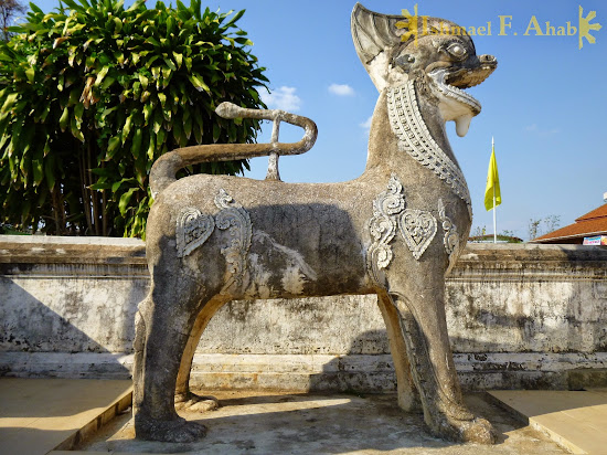 Tiger or Lion statue in Lampang, Thailand