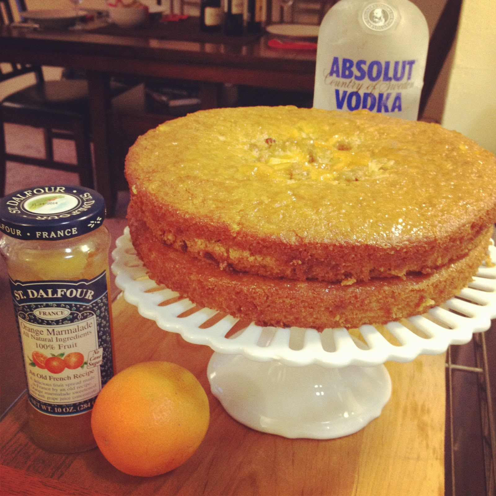 The Lush Chef: Sticky Orange Cake with Vodka & Marmalade Glaze
