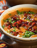 Grilled Sweet Potato Soup