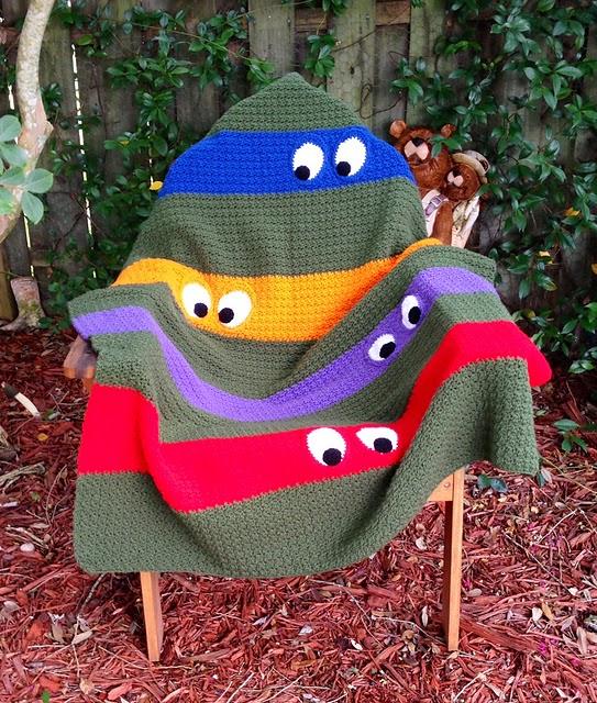 http://www.ravelry.com/projects/kathy862/teenage-mutant-ninja-turtle-blanket