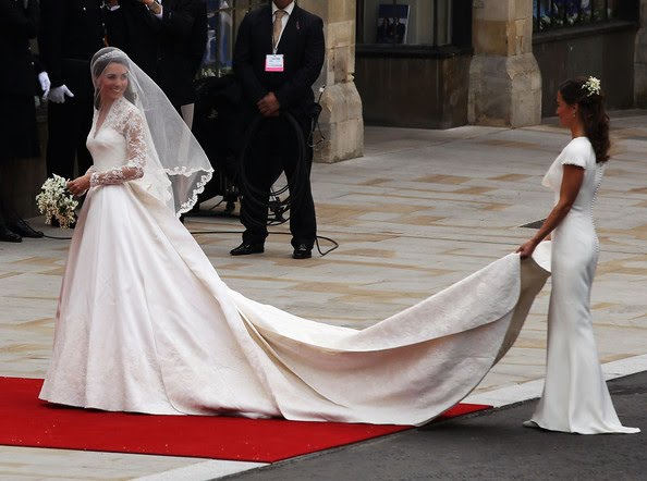 Pippa S Choice Surprised Those Who Had Expected Her To Wear An Alice Temperley Design With A Cream Fluid Silk Dress By Sarah Burton After She Was Spotted