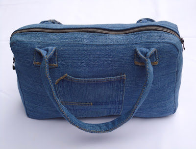 Дорожная сумка из старых джинсов своими руками