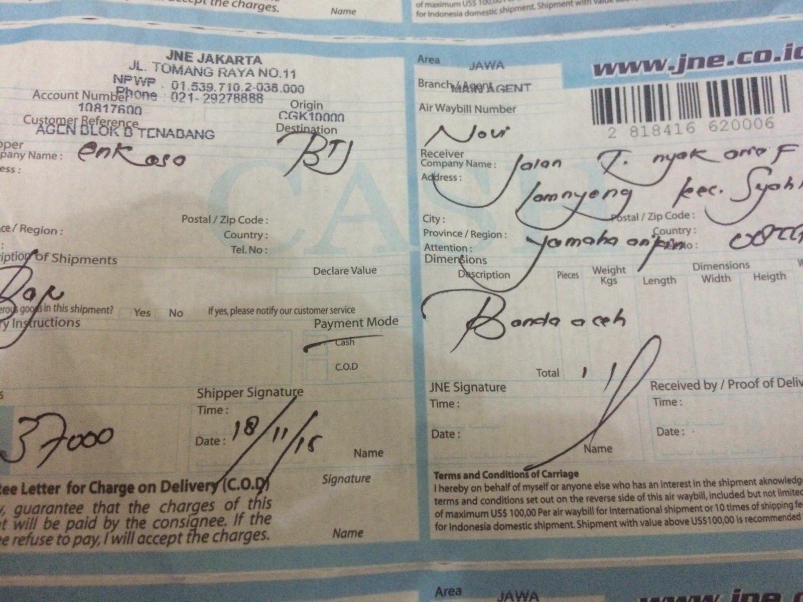 Nomer Resi Novi Jln T Nyak Arief Lamnyong Kec Syahkuala Yamaha Arifin Banda Aceh