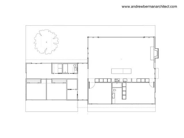 Plano arquitectónico de planta de la casa de aluminio norteamericana