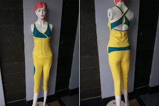 model baju senam aerobik