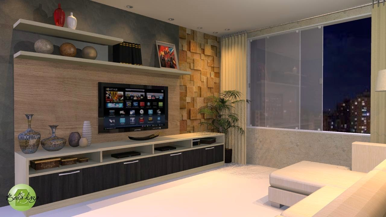 Home Theater Na Sala De Tv ~ Home Theater Planejado