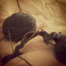 I like to knit in bed