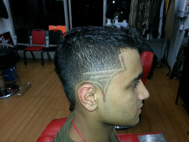fadez & ink mohawk with double