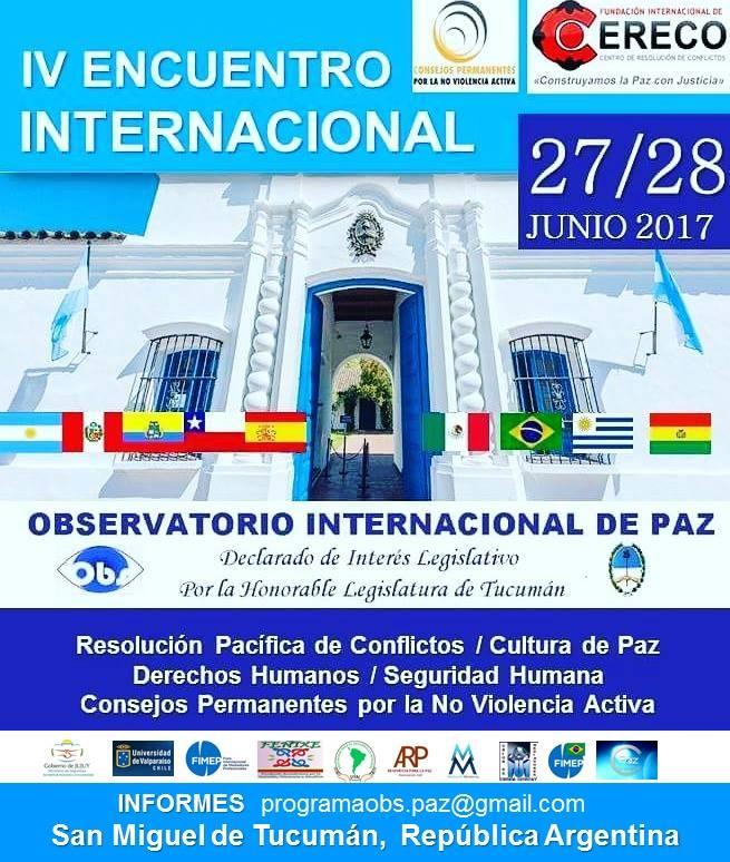 IV Encuentro Internacional de Observatorio de Paz