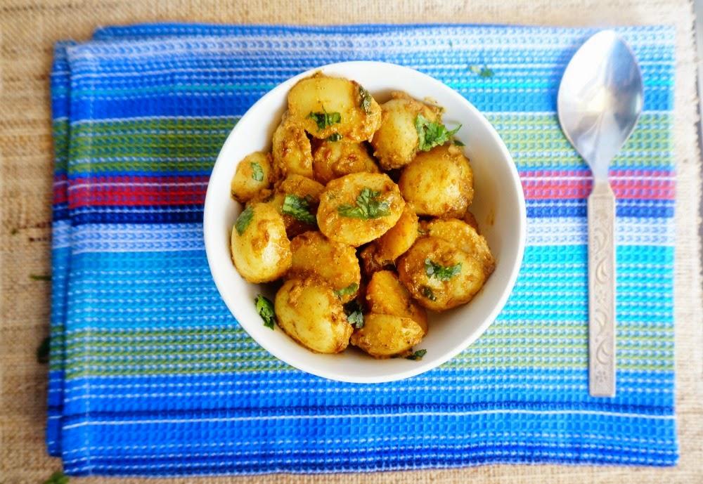 baby potato,dum aloo