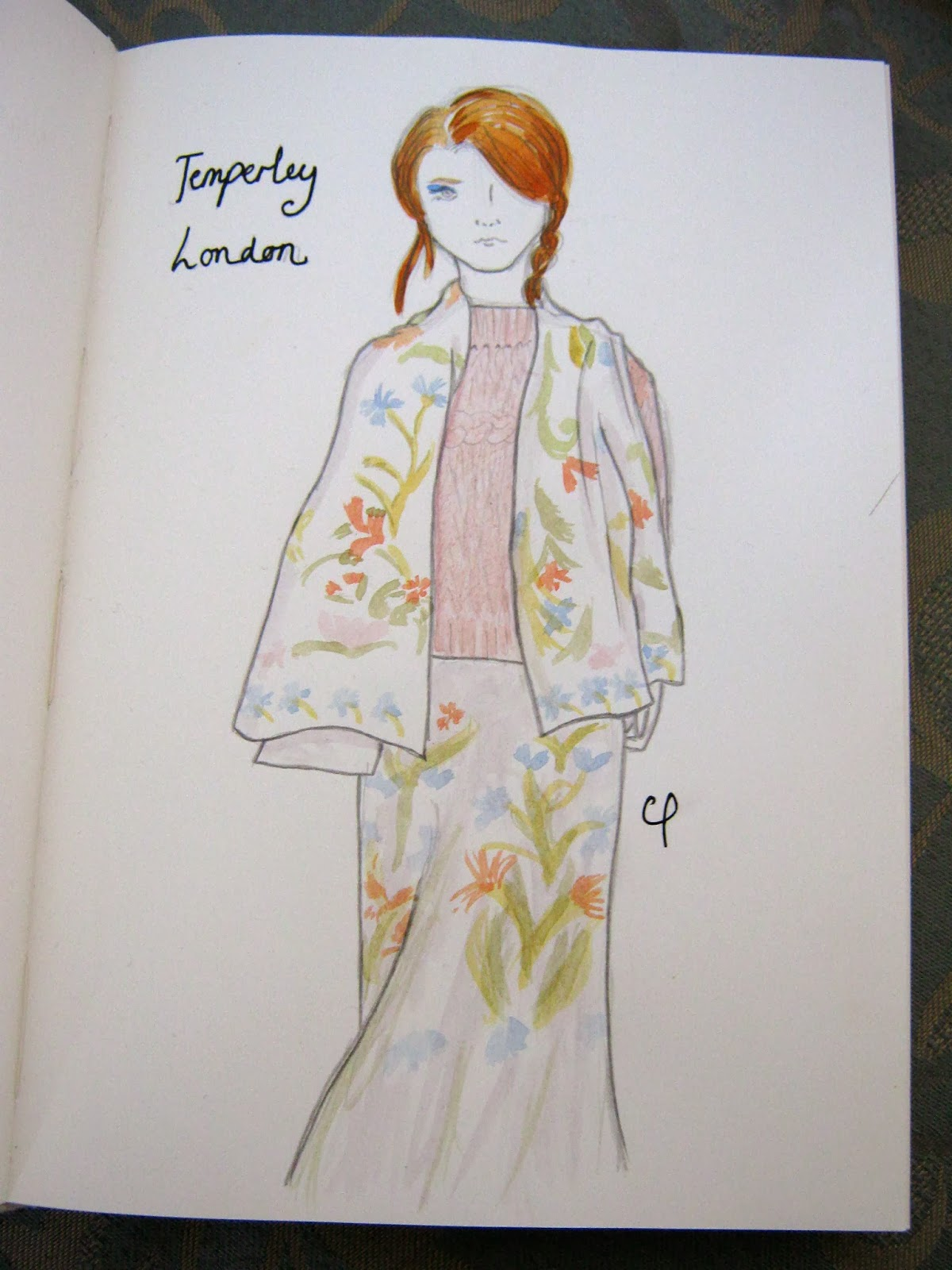 Temperley London Florals Fashion Illustration