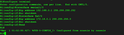 Konfigurasi dasar Router R1