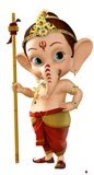 Look in to ganesha's eyes U will get happiness