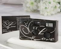 Wedding favors, disposable wedding cameras