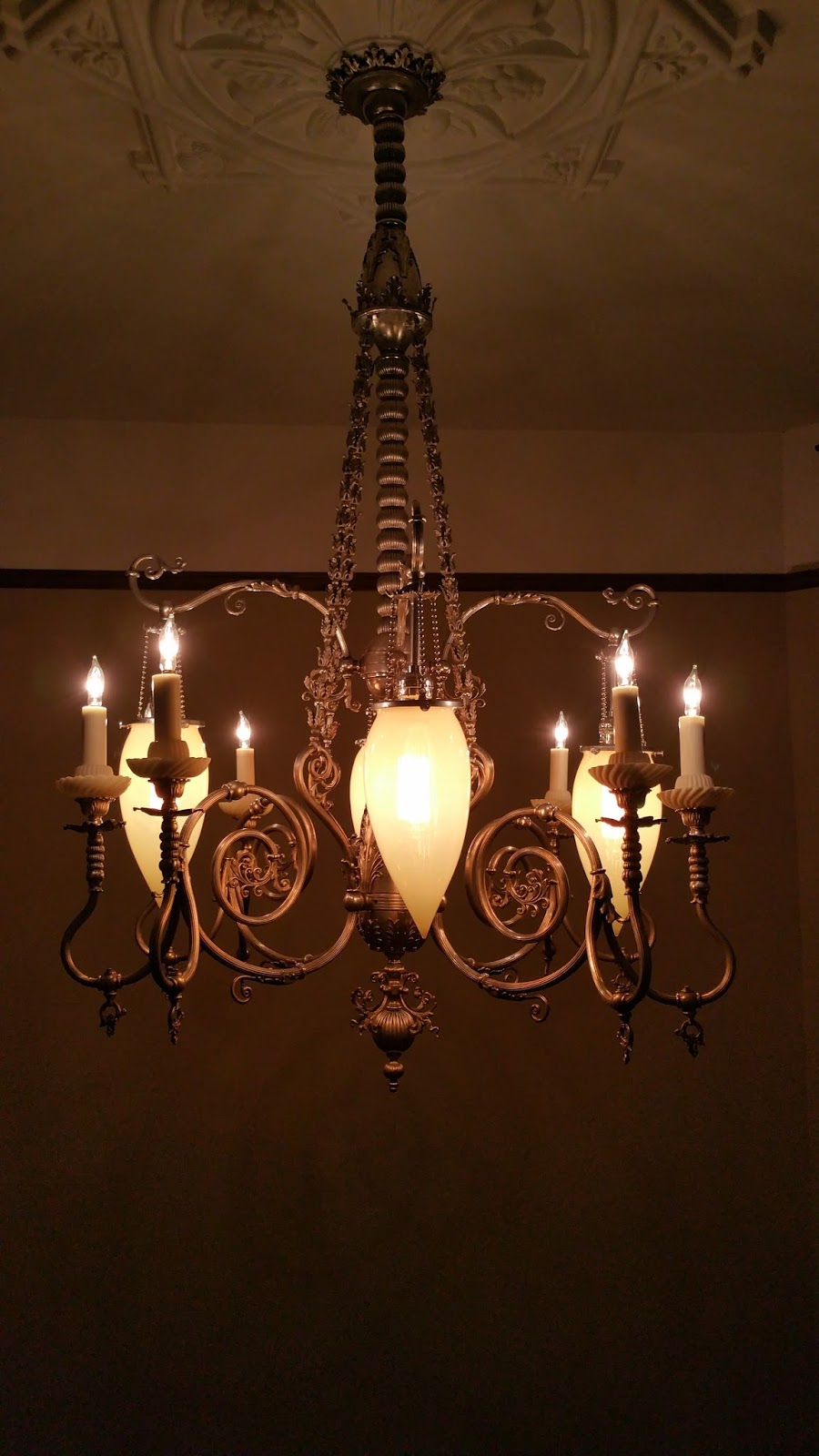 Superb  and that the chandelier would fit down in the tight space when lowered When the time came I lowered it all the way down and it fit perfectly Success