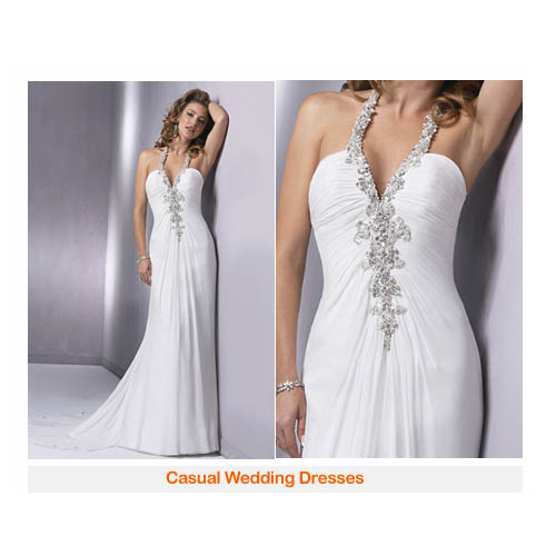 Wedding ring casual wedding dress for Wedding dress casual style