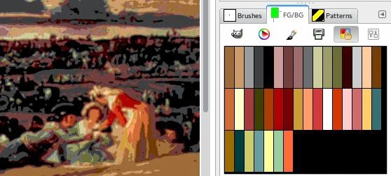 Palette extracted with the web based palette ... and red is recovered.
