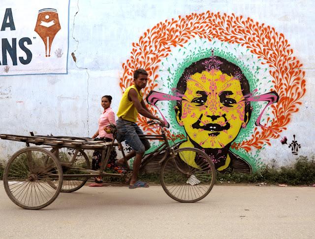 street art by stinkfish in nepal