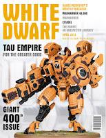 Portada de la edición anglosajona del número 400 de la revista White Dwarf