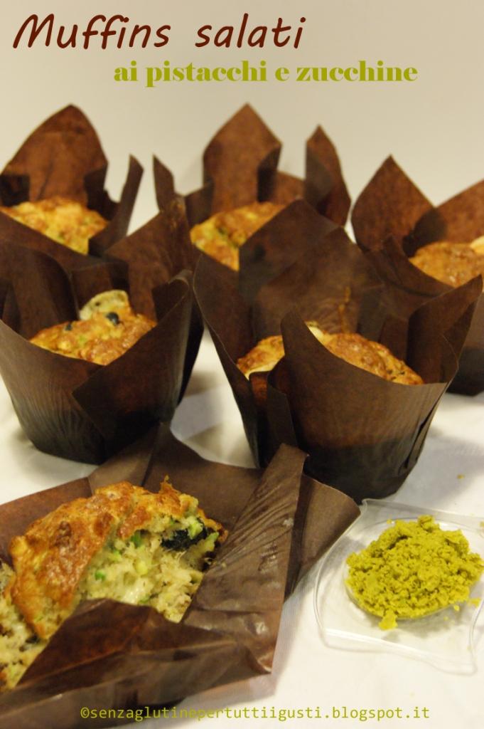 muffins salati senza glutine al pistacchio e zucchine per il 100% gluten free (fri)day!
